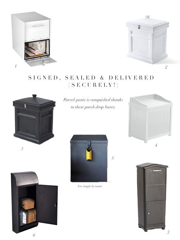 Keep Packages Secure With A Parcel Drop Box Parcel Drop Box Parcel Box Drop Box Ideas