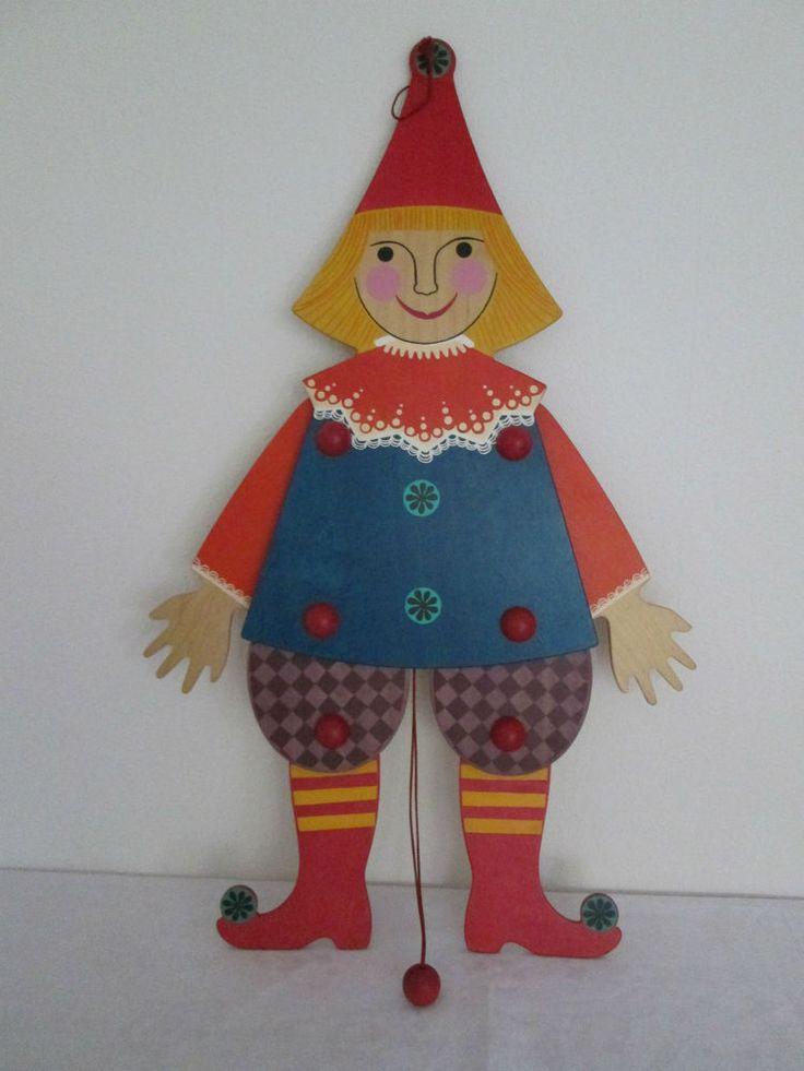 Hampelmann Schwingfigur aus Holz bemalt Breitschwerdt