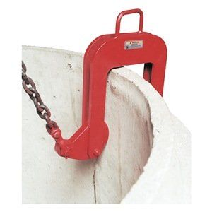 Concrete Manhole Housing Lifter, 15000Lb by Caldwell. $3256.75. Concrete Manhole Housing Lifter, Capacity 15000 Lbs., Pipe Diameter 101 In max, Pipe Wall Thickness 4 In to 6 In, Material Above the Bail Opening .88 In, Bail Opening Width 3.94 In, Bail Opening Height 7.09 In, Clamp Dimension 19 InH x 19 InW x 2-1/4 In Dor 3 InD to Bolt, Headroom 41 In, Weight 181 Lbs., Complies with ASME Standards Concrete Housing LiftersUse for handling concrete manhole housings with...