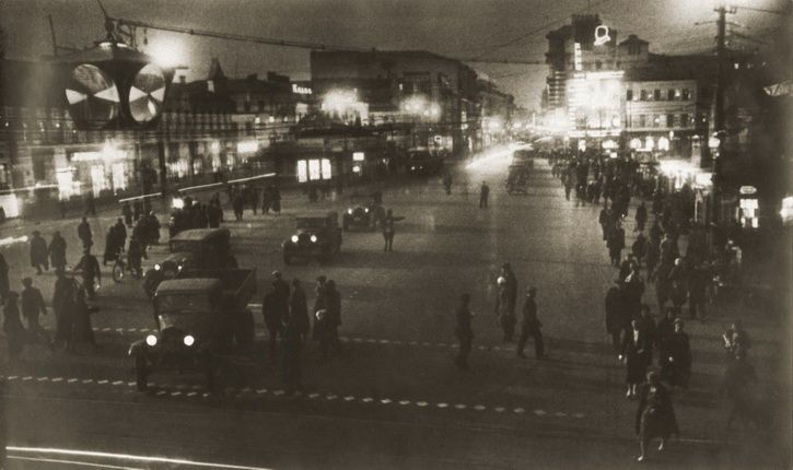 Eleazar Langman. Evening on Tverskaya Street. 1935