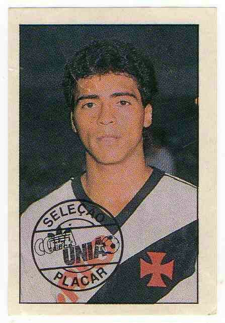 Romario of Vasco da Gama in 1987.