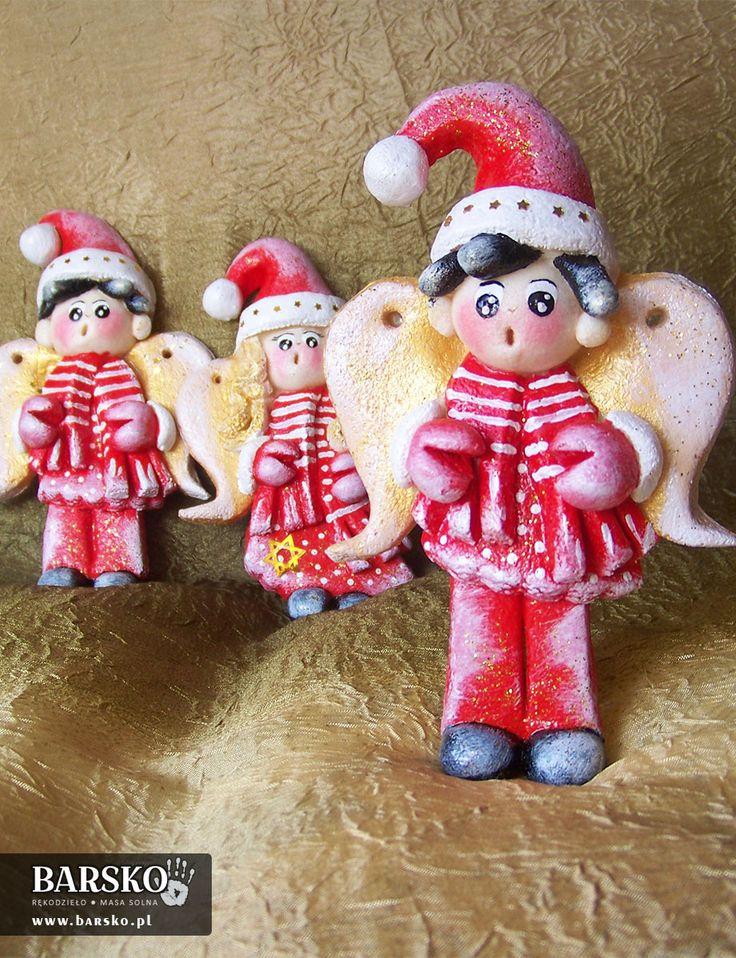 Mikołajowe Aniołki z masy solnej