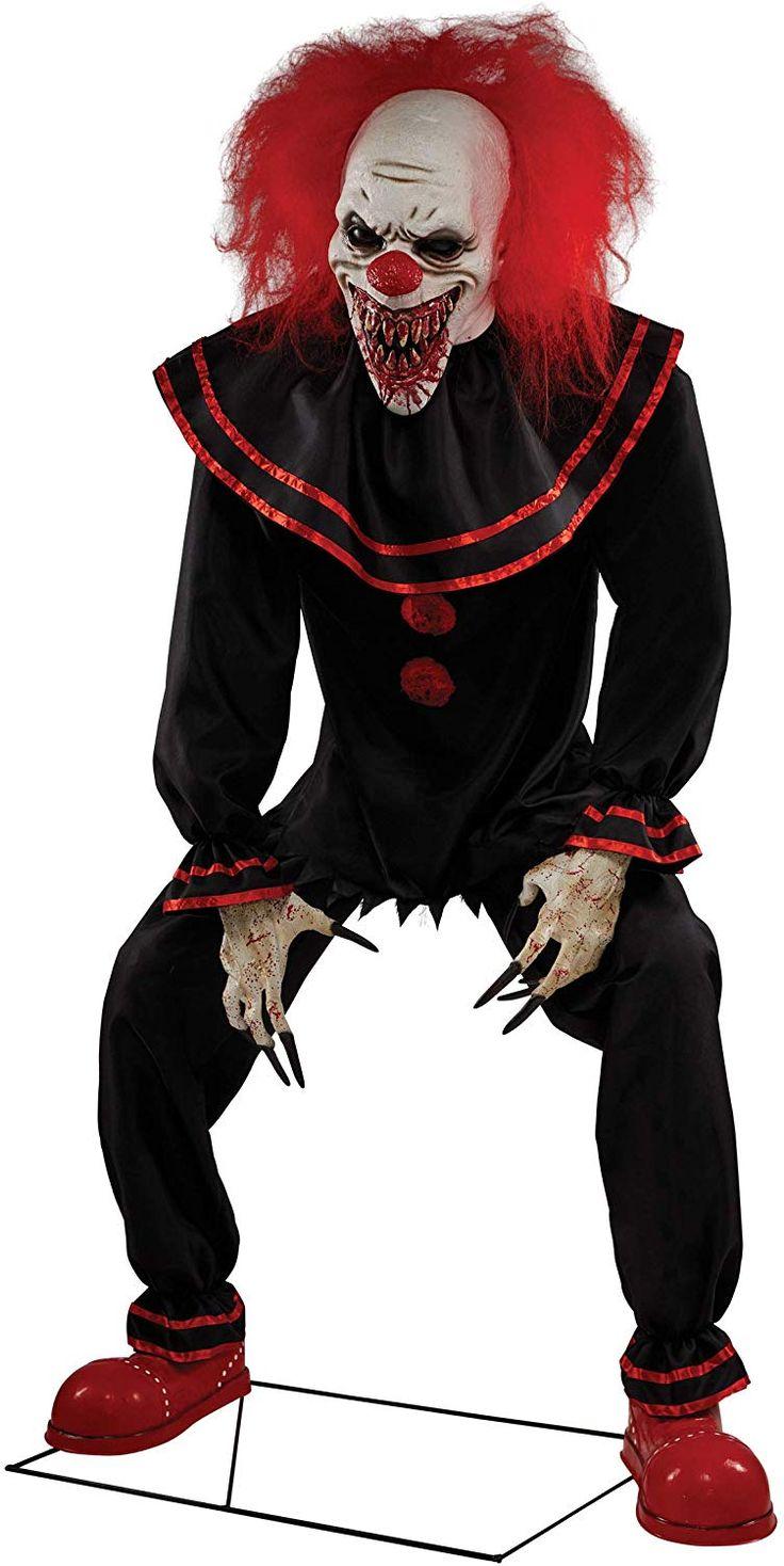 7 Ft Crouchy The Clown Animatronic Scary clowns