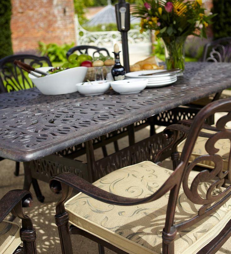 Amalfi 4 Seater Garden Dining Set With Parasol Hartman Amalfi 4