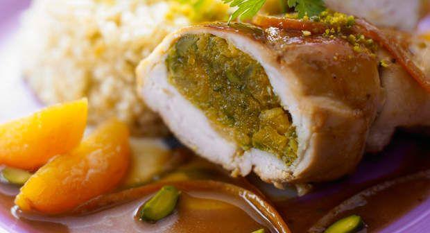 Suprêmes de poulet aux abricots et aux pistachesVoir la recette >>