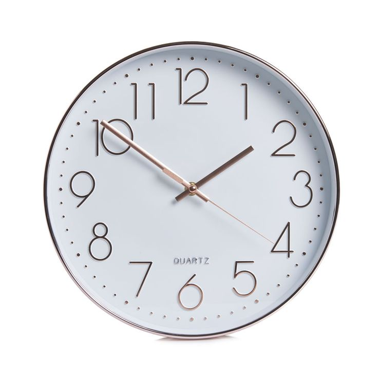 Wilko Classic Wall Clock Copper Effect at wilko.com
