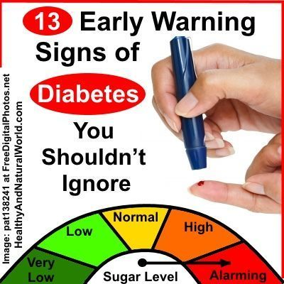 13 Early Warning Signs of Diabetes You Shouldn't Ignore