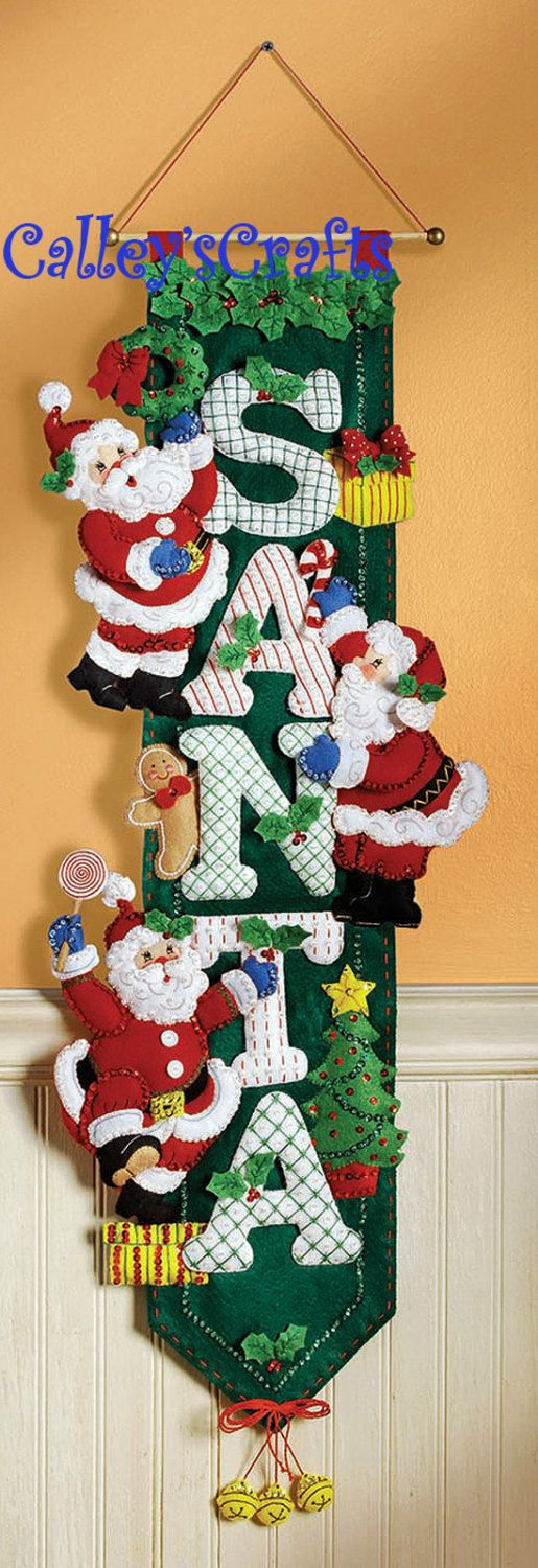 Bucilla Santa Felt Christmas Wall Hanging Kit 85454