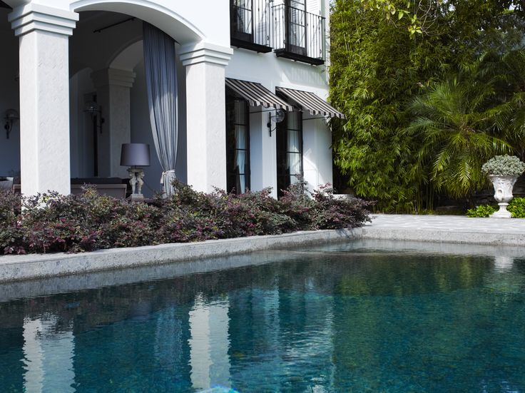 Pool with Loropetalum sp.