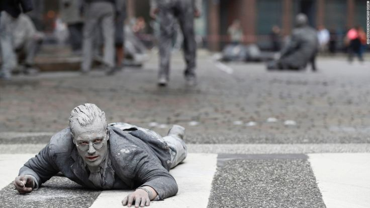 'Zombies' descend on Hamburg for G20 protest #World #iNewsPhoto