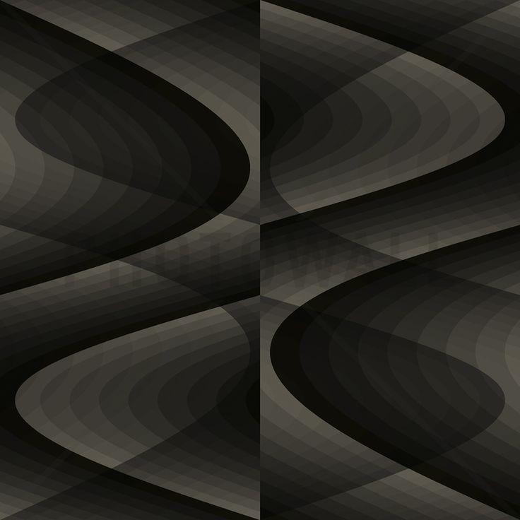 3D - Grey Black Fototapeter & Tapeter