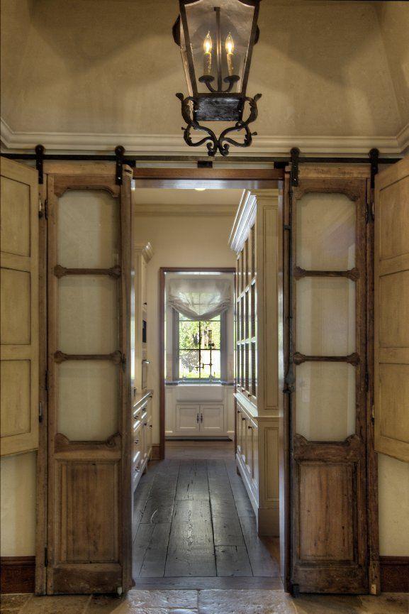 Tc Interiors Entry Hallway Love These Tall Thin Doors That Look Like Shutters Barn Doors Sliding New Homes Sliding Doors Interior