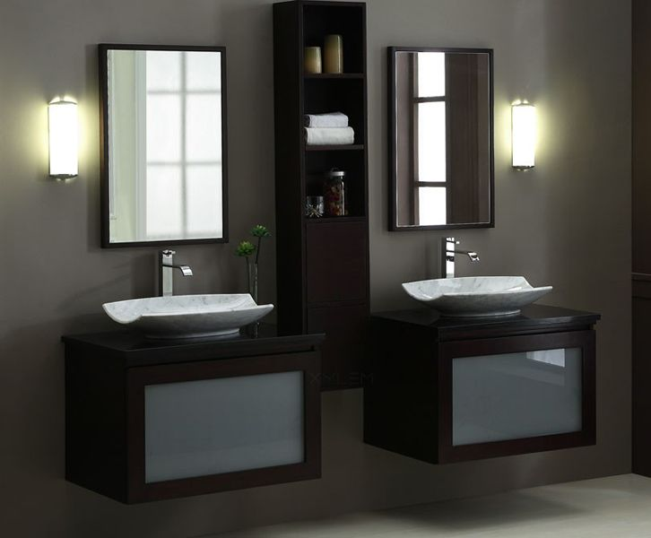 Contemporary Art Sites BLOX Xylem Moduler Bathroom Vanity Set The unique modularity of the Blox range