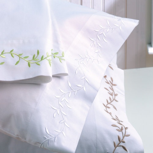Love embroidered sheets