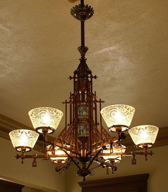 Bradley & Hubbard gas chandelier by gaswizard, via Flickr - 17 Best Images About Lampen Danszaal On Pinterest House, Antique