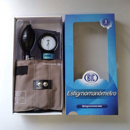 APARELHO DE PRESSÃO ADULTO BRIM METAL CINZA AP0103 BIC   Melhor Preço! - Cirúrgica Joinville   Produtos Médicos e Hospitalares