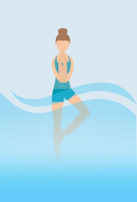 Hot tub Yoga - Pretzel Pose