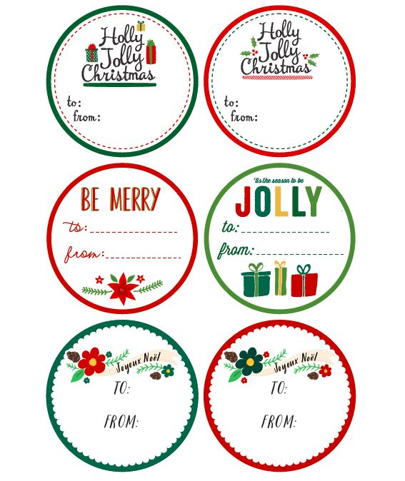 Free Printable Christmas Label Templates by @Angie Sandy Design & Illustration in a whimsical design