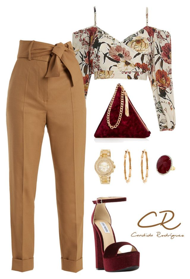"""Sin título #29"" by candida-rodriguez-alba on Polyvore featuring moda, Sara Battaglia, Street Level, Steve Madden, Gucci y MICHAEL Michael Kors"