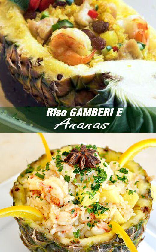 Riso ananas e gamberetti cucina Thailandese