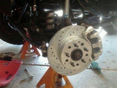 Jeep WJ Brake, Knuckle, & Steering Conversion for 84-01 Jeep Cherokee XJ, ZJ - YouTube
