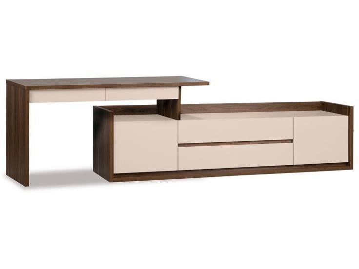 Bureau 150 modulable bureaux meuble de salon salle for Meuble bureau 76