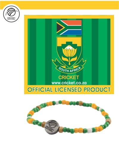 Our New SA Cricket supporters bracelet just launched April 2014.  www.beadcoalition.com