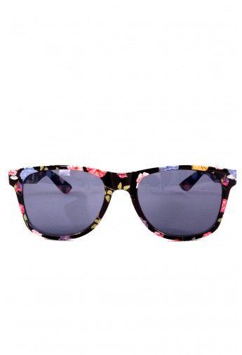 Retro Floral Frame Sunglasses