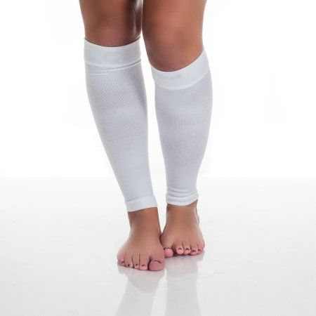 Calf Compression Running Sleeve Socks - Multiple Sizes and Colors by Remedy, White