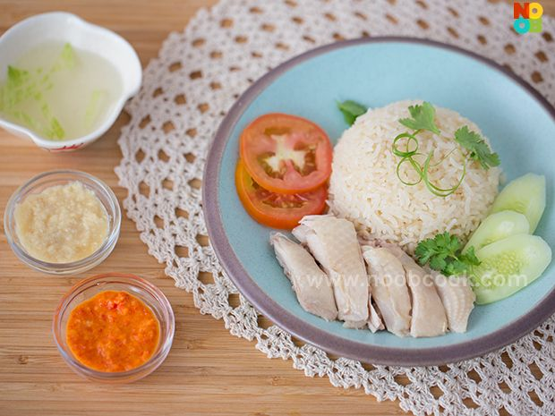 Authentic and easy recipe for home-cooked Hainanese chicken rice.