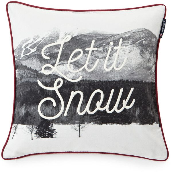 Lexington Photoprint Snow Sham ($61) ❤ liked on Polyvore featuring home, bed & bath, bedding, bed accessories, white, lexington bedding, square pillow shams, white bed linen, white shams and white bedding