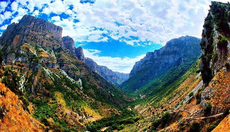 """With #ZagoriSuites as a starting point, visit the famous Vikos Gorge, the """"Gran Canyon"""" of #Zagorochoria.  http://www.tresorhotels.com/en/hotels/70/zagori-suites#content"""