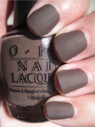 OPI Matte Coloring: Matte Nails, Nail Polish, Matte Polish, Nails Colors, Nailpolish, Matte Collection, Colors Nails, Gray Nails, Nails Polish Colors