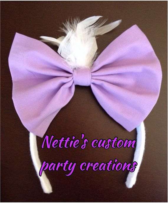 Mickey Mouse clubhouse inspired Daisy Duck oversized fabric bow headband