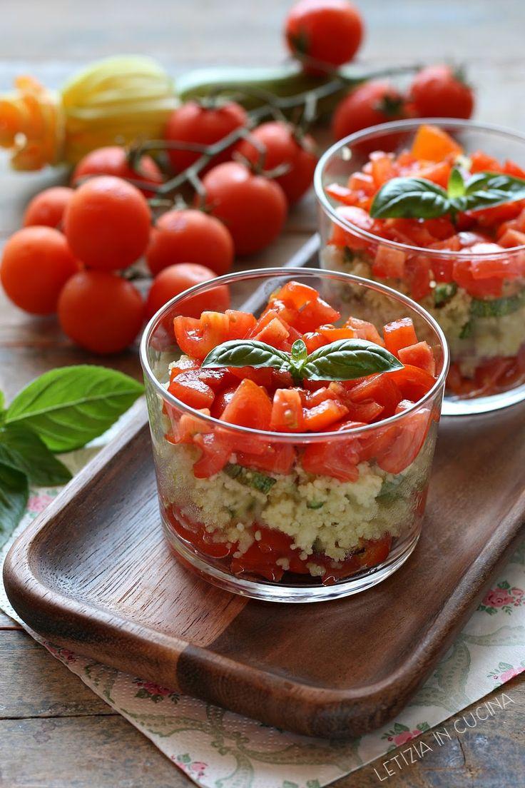 Letizia in Cucina: Cous cous monoporzione con zucchine e pomodorini