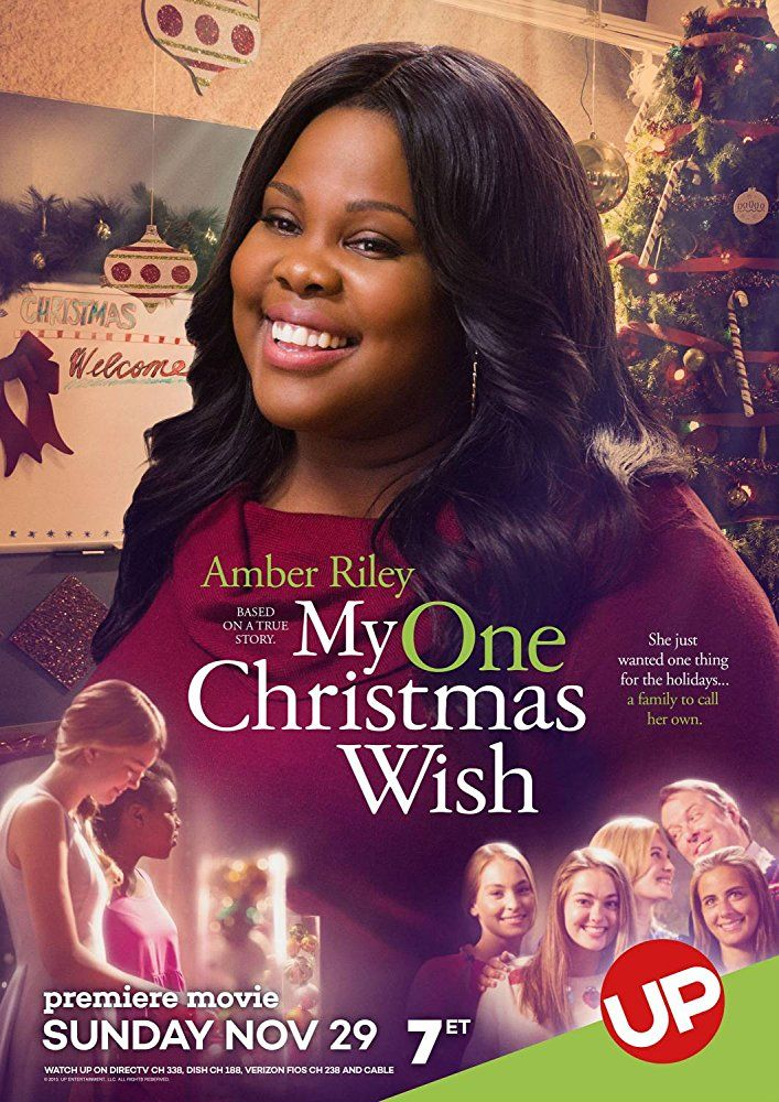 My One Christmas Wish (2015) Amber Riley stars as Jackie, a college student facing Christmas all on her own until she decides to place an advert for a family for Christmas and is stunned by the response she receives.
