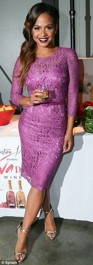 Hostess with the mostess: Christina Milian was guest of honour at the UnWINEd with LAs BES...