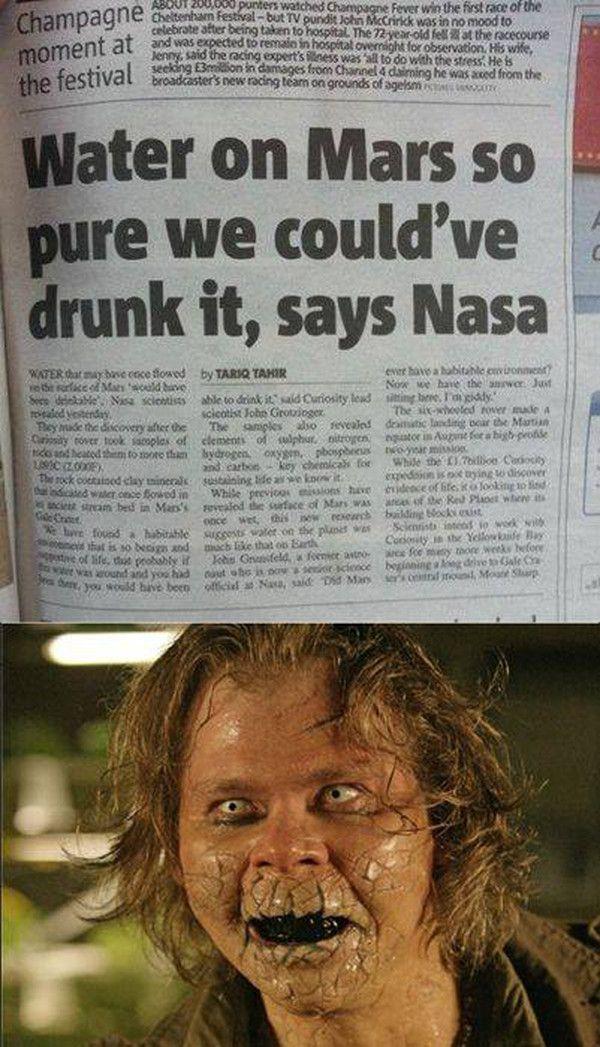 water on mars doctor who nasa