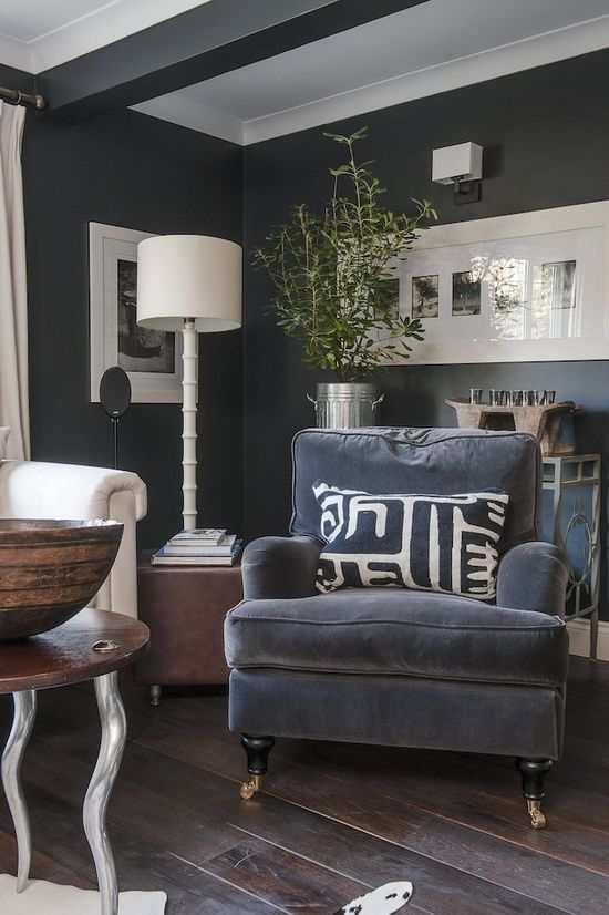 dark gray walls