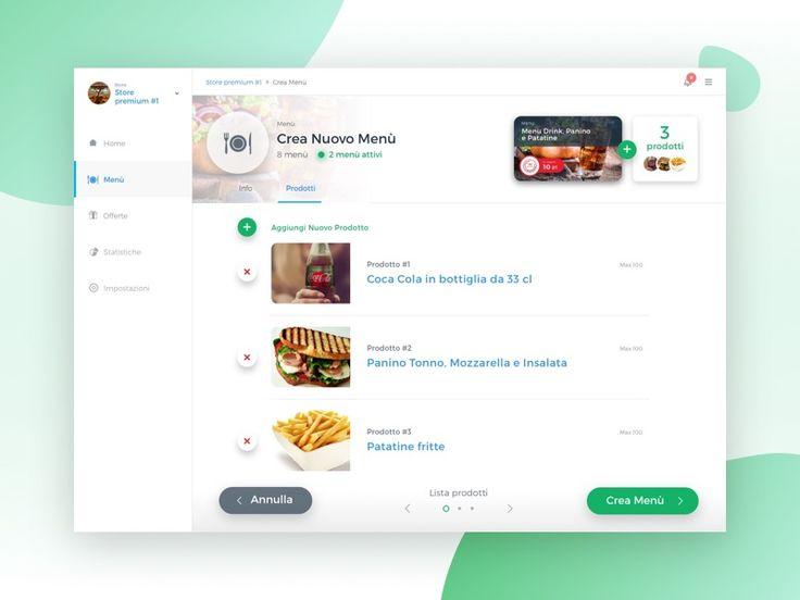 Dashboard for Resturant -  Menu Generator
