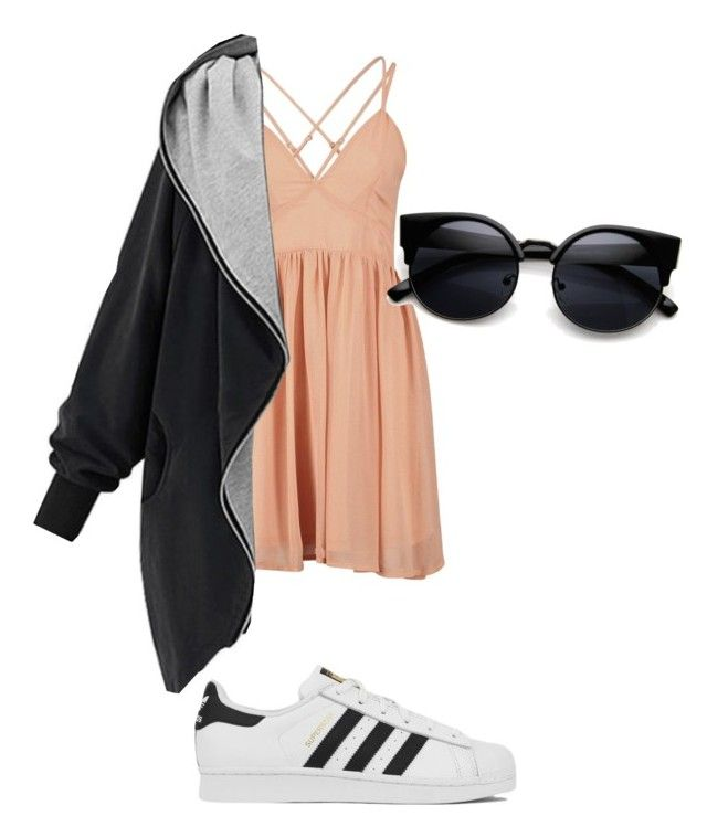 """basic"" by emma-katexx on Polyvore featuring adidas, women's clothing, women, female, woman, misses and juniors"
