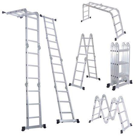 Free Shipping. Buy 12.5FT EN131 330LB Multi Purpose Step Platform Aluminum Folding Scaffold Ladder at Walmart.com