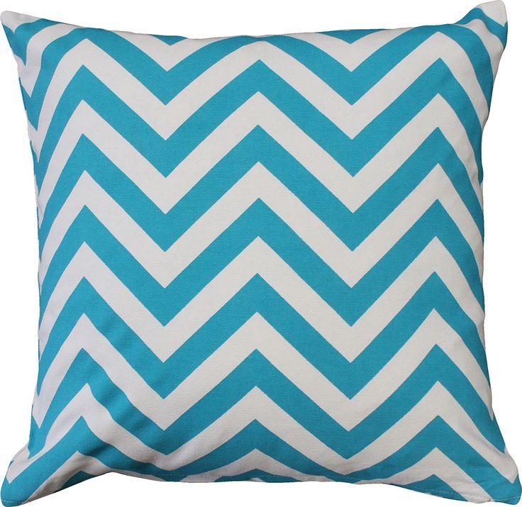 Metro Zig Zag Blue Cushion $39.95