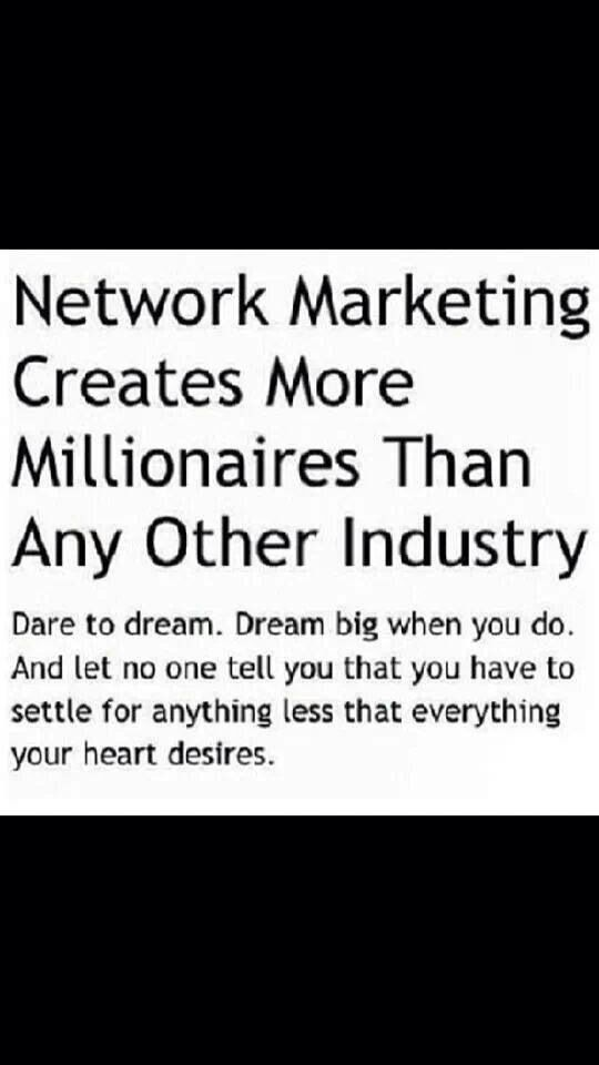 Network marketing Creates More Millionaires than any other industry. If your Struggling in your MLM for tips to success visit www.WinningWithJohn.com