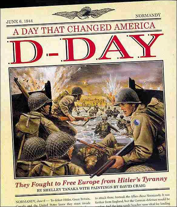 June 6th 1944 was D-Day, the day that would end Hitlers occupation of Europe in WW2.  The day that saw 175,000 American, Bristish, French, Polish, Norwegian, Dutch and Canadian troops land on the fields and beaches of Normandy, France.  It was a terrific victory, the beginning of Germany's defeat.