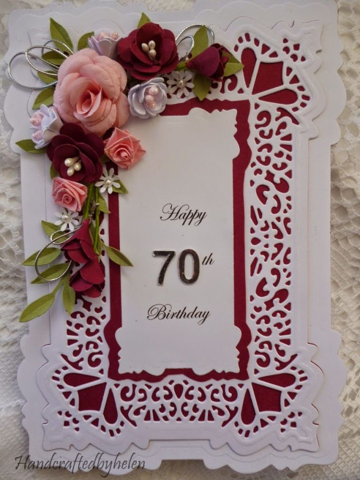 Handcrafted by Helen: Special Birthday cards