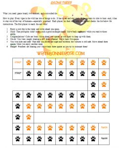 Timeline Worksheet: April 1, 1973, Project Tiger and a Racing Tigers Board Game - WriteBonnieRose.com