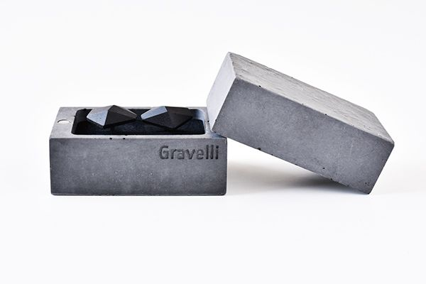 Concrete cufflinks by Tomas Vacek www.studiovacek.cz   designed for Gravelli www.gravelli.com   BUY http://shop.gravelli.com/en/accessories