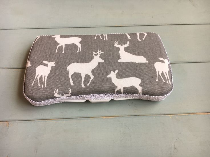 Deers on Grey, Baby Wipe Case, Wipe Case, Travel Wipe Case, Wipes Case, Wipes Holder, Baby Wipes Case, Diaper Bag, Baby Gift, Babyshower by PinchMeBabyBoutique on Etsy https://www.etsy.com/listing/480154521/deers-on-grey-baby-wipe-case-wipe-case