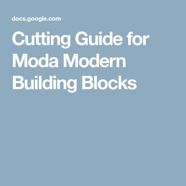 Cutting Guide for Moda Modern Building Blocks